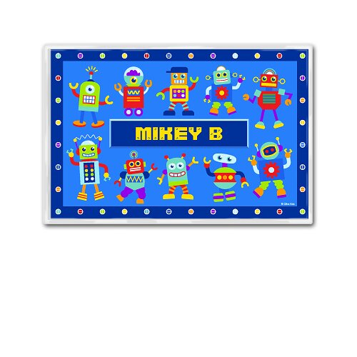 Olive Kids Robots Personalized Placemat
