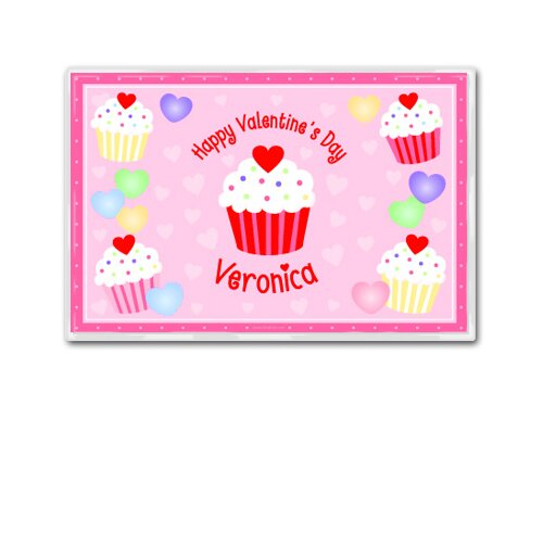 Olive Kids Valentine's Day Cupcake Personalized Placemat