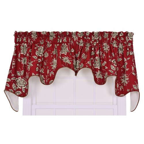 "Ellis Curtain Jeanette Lined Duchess 100"" Curtain Valance"