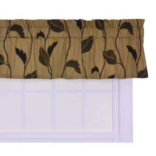 "Ellis Curtain Riviera Large Scale Leaf and Vine 50"" Curtain Valance"