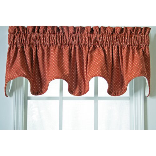 "Ellis Curtain Tremblay / Tyvek Small Scale Diamond Lined 70"" Curtain Valance"