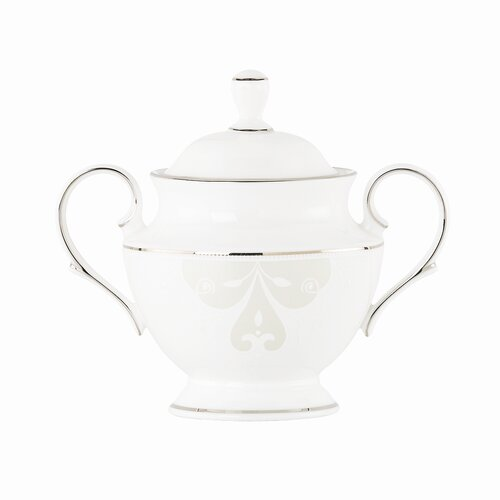 Lenox Opal Innocence Scroll Sugar Bowl with Lid