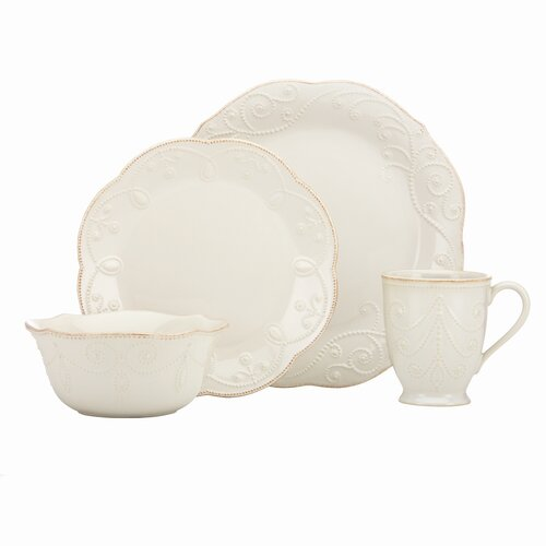 French Perle Ace 4 Piece Place Setting