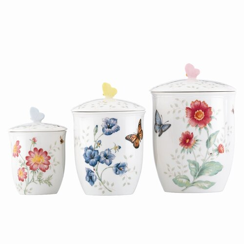 Lenox Butterfly Meadow 3 Piece Canister Set