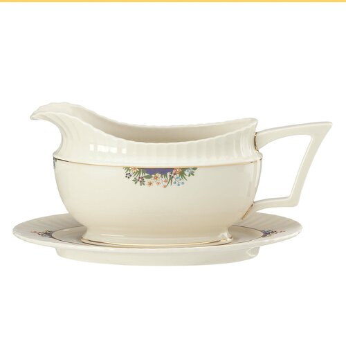 Lenox Rutledge 16 oz. Gravy Boat with Tray