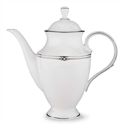 Lenox Pearl Platinum 6 Cup Coffee Server with Lid
