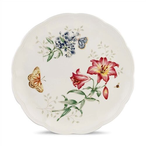 "Lenox Butterfly Meadow 10.75"" Fritillary Dinner Plate"