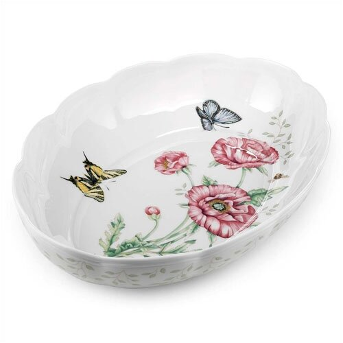 Lenox Butterfly Meadow Oval Baker