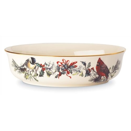 "Lenox Winter Greetings Open 9.5"" Vegetable Bowl"