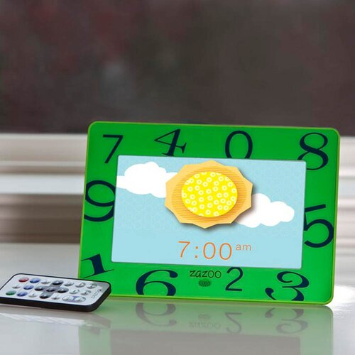 Zazoo Kids Photo Clock in Green Numbers
