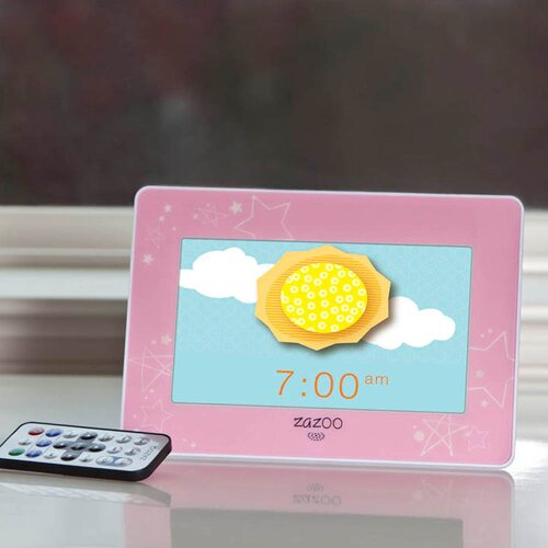Zazoo Kids Photo Clock in Pink Stars