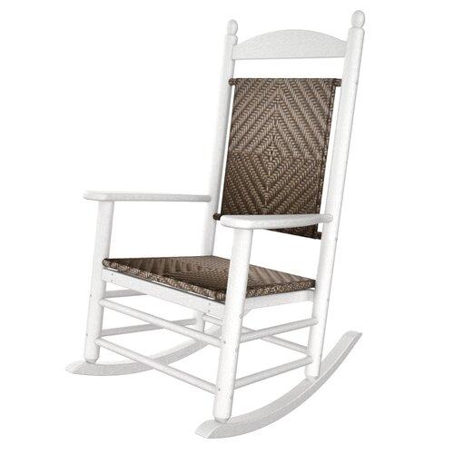 POLYWOOD® Rocker Jefferson Woven Chair