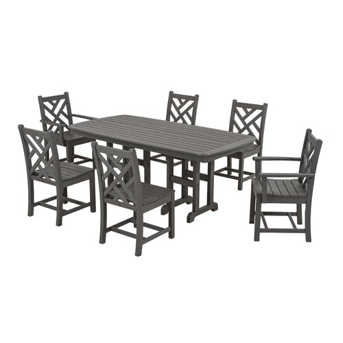 POLYWOOD® Chippendale 7 Piece Dining Set