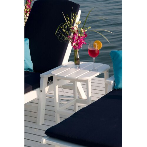 POLYWOOD® South Beach Shell Back Side Table