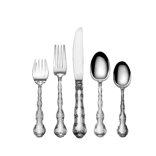 Sterling Silver Strasbourg 5 Piece Flatware Set