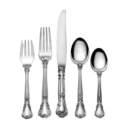 Sterling Silver Groham Chantilly 47 Piece Flatware Set
