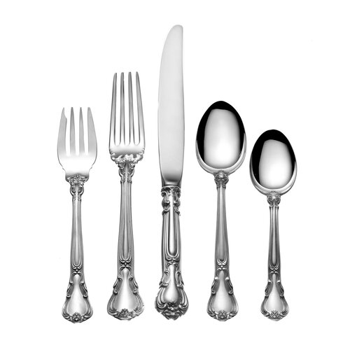 Sterling Silver Groham Chantilly 46 Piece Flatware Set
