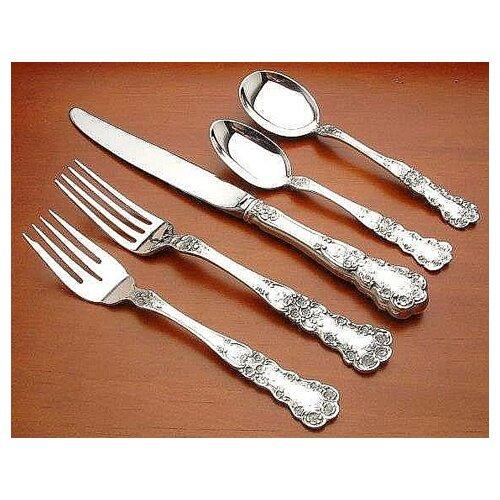 Gorham Sterling Silver Groham Buttercup 5 Piece Dinner Flatware Set