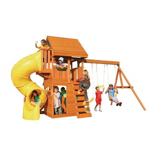 Big Backyard Cedar Summit Grandview Deluxe Wooden Play Set ...