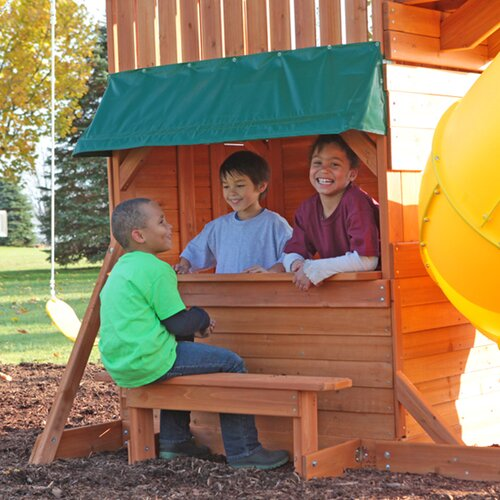Big Backyard Cedar Summit Grandview Deluxe Wooden Play Set