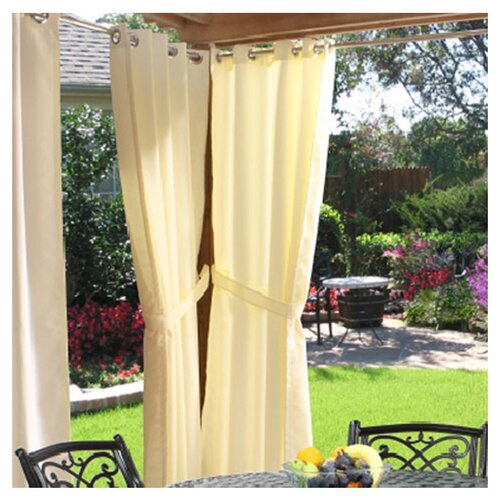 Commonwealth Home Fashions Outdoor Décor Gazebo Outdoor Solid Grommet Top Curtain Single Panel