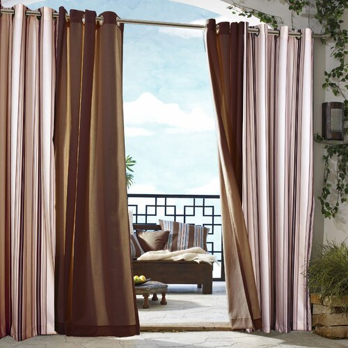 Commonwealth Home Fashions Outdoor Décor Gazebo Outdoor Stripe Grommet Top Curtain Single Panel