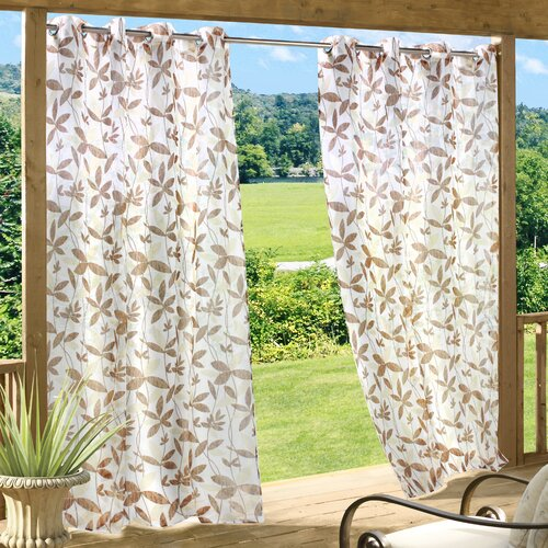 Commonwealth Home Fashions Floral Garden Grommet Curtain Single Panel