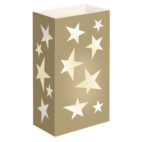 Luminarias Gold Star Flame Resistant Luminarie Bags