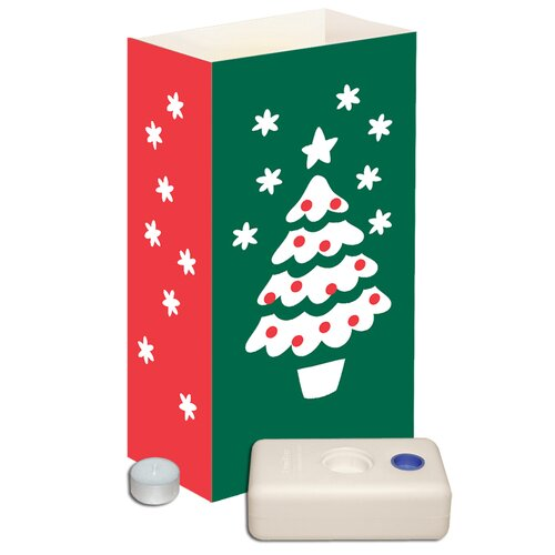 Luminarias Christmas Tree Candle Luminaria Kit