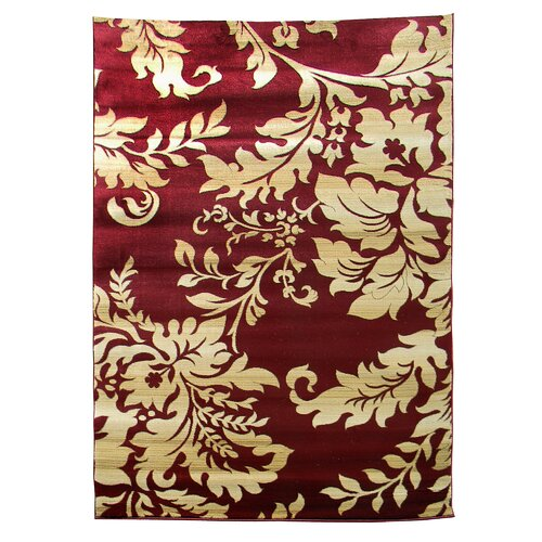 Tiffany Burgundy Floral Rug