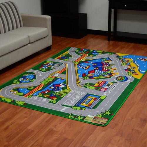 DonnieAnn Company Paradise Design Street Map Area Rug QDY.