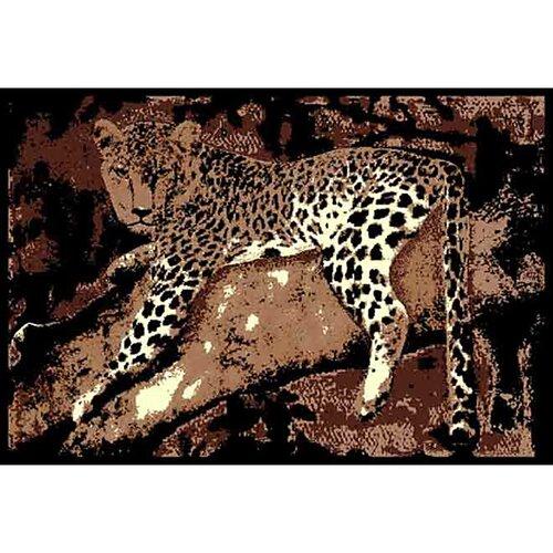 African Adventure Leopard on Tree 3 Novelty Rug