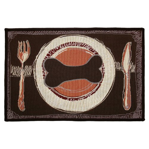 PB Paws & Co. Russet / Berry Dog's Dinner Tapestry Rug