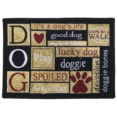 Park B Smith Ltd PB Paws & Co. Sand Cinnabar I Love Dogs Tapestry Rug