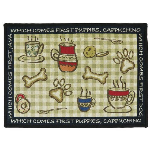 PB Paws & Co. Multi Puppy First Tapestry Rug
