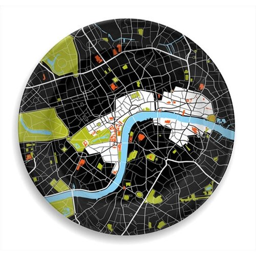 """notNeutral City on a Plate 12"""" London Dinner Plate"""