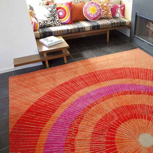 notNeutral Eccentric Red/Orange Rug