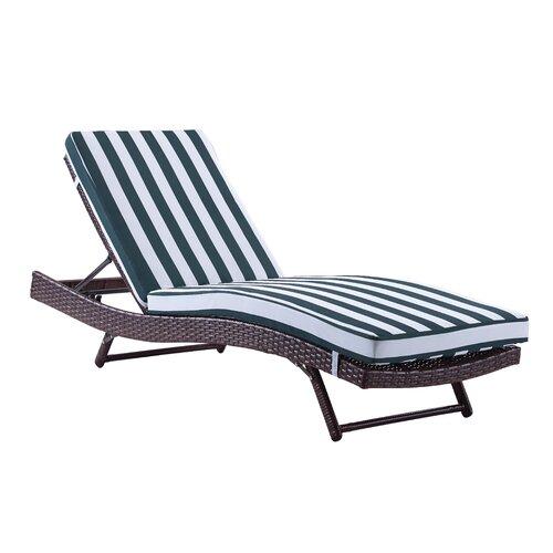 South chaise lounge with cushion wayfair for Chaise cushion clearance