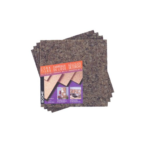 "AccoBrands 12"" x 12"" x 0.25"" Dark Cork Tile (4 Pack)"