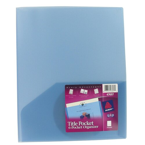 Avery 6 Pocket Title Pocket Organizer in Assorted Colors