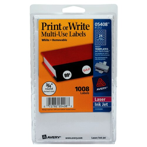 "Avery 0.75"" Print Or Write Label"