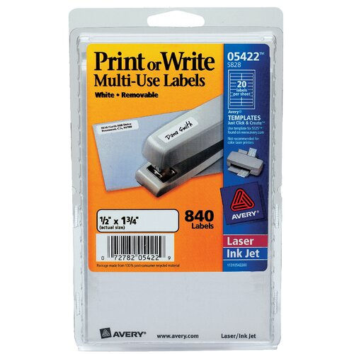 "Avery 1.75"" Print Or Write Label"