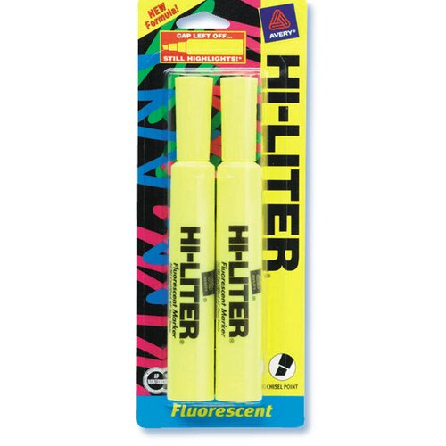 Avery 2 Count Yellow Fluorescent Hi-Liter