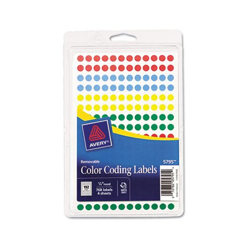 Avery Removable Self-Adhesive Round Color-Coding Labels
