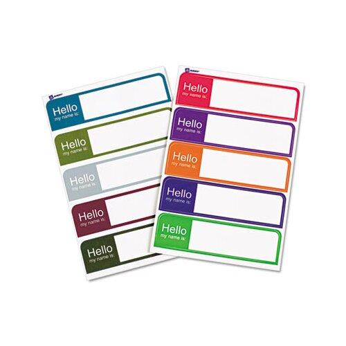 "Avery ""Hello"" Flexible Self-Adhesive Mini Name Badge Labels"
