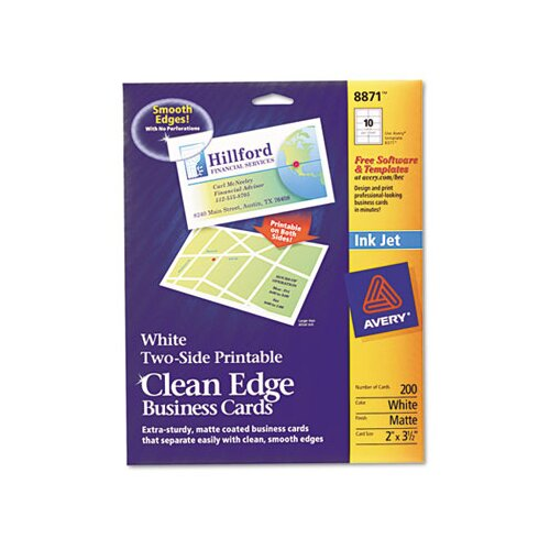 Avery Two-Side Clean Edge Printable Business Cards