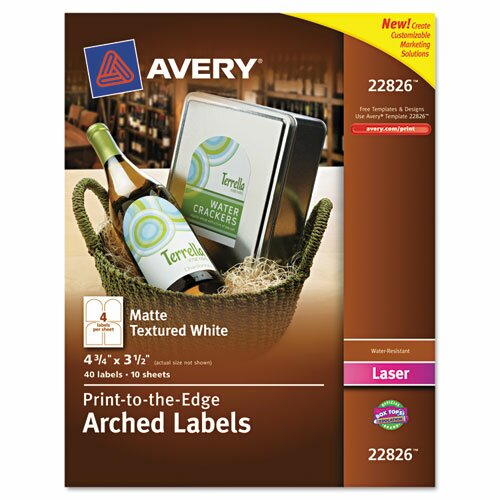 Avery Textured Arched Easy Peel Label (40 Pack)