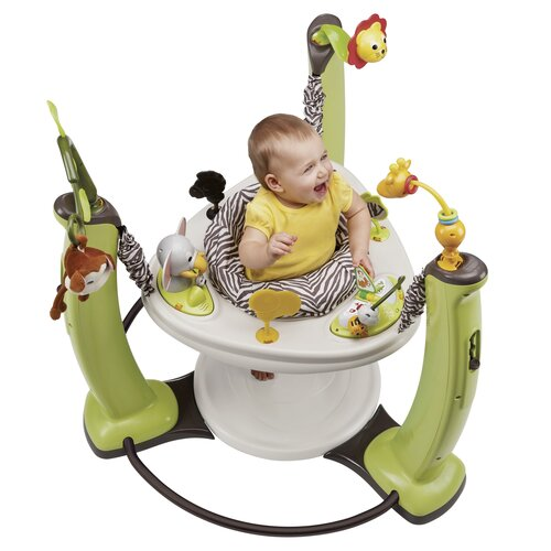 Evenflo ExerSaucer Jungle Quest Jump and Learn Stationary Jumper