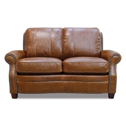 Ashton Leather Modular Loveseat
