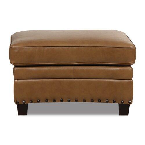 Bennett Leather Ottoman